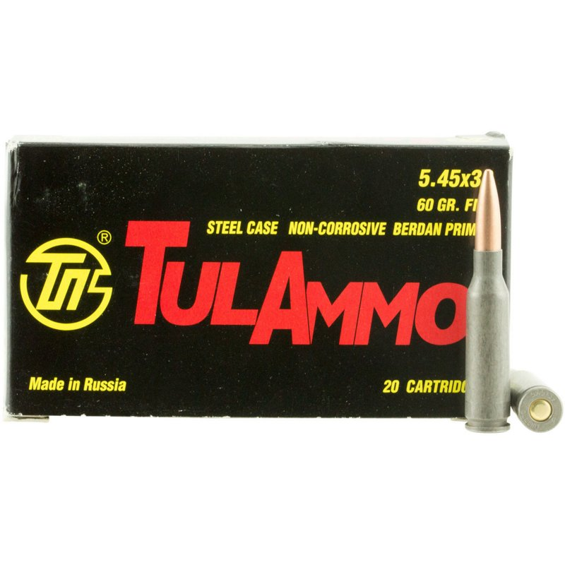 TulAmmo FMJ 5.45 x 39mm 60-Grain Centerfire Rifle Ammunition – Rifle Shells at Academy Sports