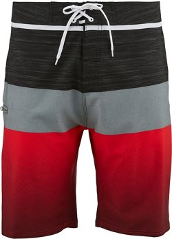 O'Rageous Men's Stretch Gradient Colorblock Boardshorts