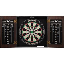 Stadium Steel-Tip Dartboard with Cabinet
