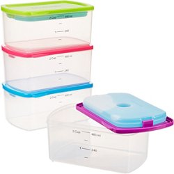 Fit & Fresh 2-Cup Portion Control Containers with Ice Packs