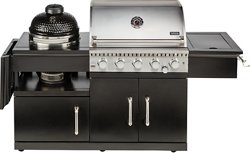 Outdoor Gourmet 5-Burner Island Grill and Kamado