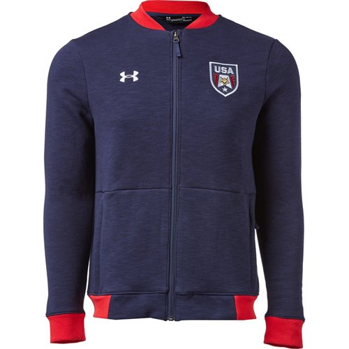 Get Under Armour Men's USA Bomber Jacket only $22.48 at Academy