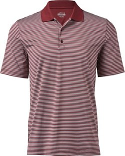 Men's Golf Mini Stripe Tru-Wick Short Sleeve Polo Shirt