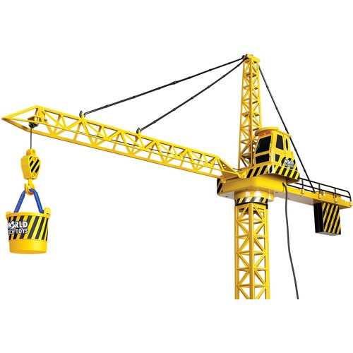 World Tech Toys Big Kids' Construction 4 ft Motorized RC Crane