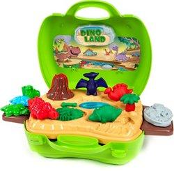World Tech Toys Activity Dough Dinosaur 26-Piece Suitcase Playset