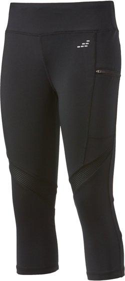 BCG Women's Zipper Pocket Running Capri Pants