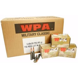 Classic FMJ 5.45mm x 39mm 60-Grain Centerfire Rifle Ammunition