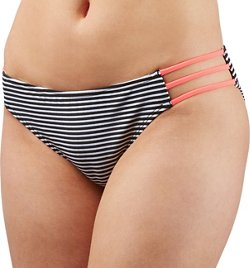 O'Rageous Juniors' Stripe Hipster Swim Bottoms
