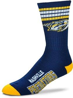 For Bare Feet Nashville Predators 504 Four Stripe Deuce Socks