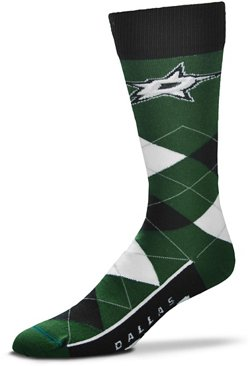 For Bare Feet Dallas Stars Argyle Socks