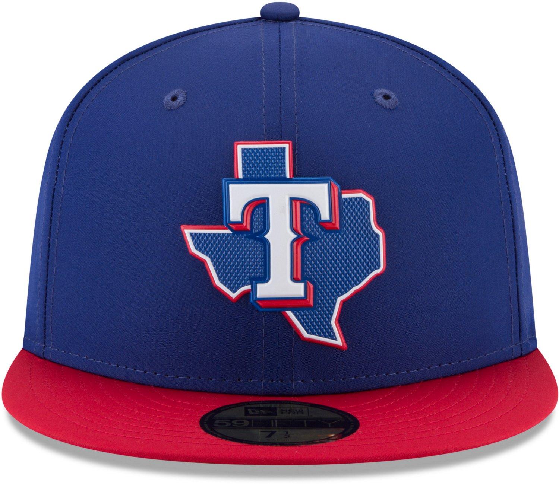 New Era Men s Texas Rangers ProLight 59FIFTY Road Batting Practice Fitted  Cap  42ae09de00b