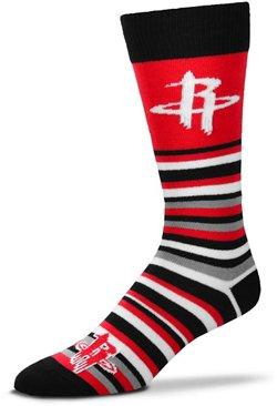 For Bare Feet Houston Rockets Lotta Stripe Thin Socks