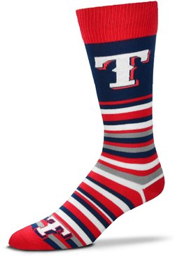 For Bare Feet Texas Rangers Lotta Stripe Thin Socks