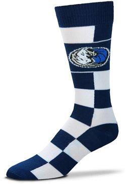 For Bare Feet Dallas Mavericks Jumbo Check Thin Socks