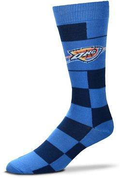 For Bare Feet Oklahoma City Thunder Jumbo Check Thin Socks