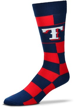 For Bare Feet Texas Rangers Jumbo Check Thin Socks