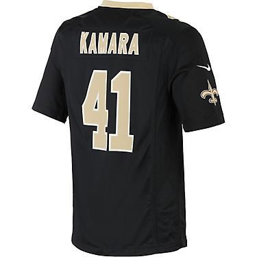 check out 74e21 6faf2 Nike Men's New Orleans Saints Alvin Kamara Replica Game Jersey