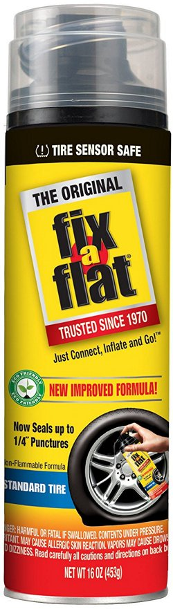 Fix-A-Flat Emergency Tire Repair Inflator and Sealer