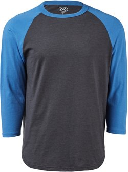 Men's Heathered 3/4-Sleeve Baseball Shirt