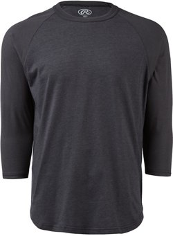 Rawlings Men's Heathered 3/4-Sleeve Baseball Shirt