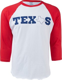 Men's Texas 3/4-Sleeve Baseball Shirt