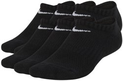Boys' Performance Cushioned No-Show Training Socks 6 Pack