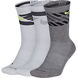 Nike Men's Dry Cushion Graphic Crew Training Socks 3 Pack