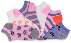 BCG Kids' Fashion No-Show Socks 6 Pack