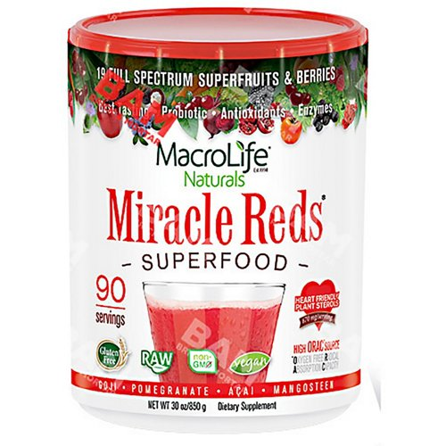 MacroLife Naturals Miracle Reds Superfood Powder