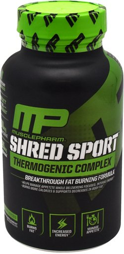 MusclePharm Sport Series Shred Sport Thermogenic Complex Capsules