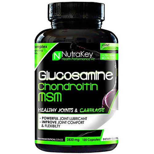 NutraKey Glucosamine Chondroitin MSM Capsules