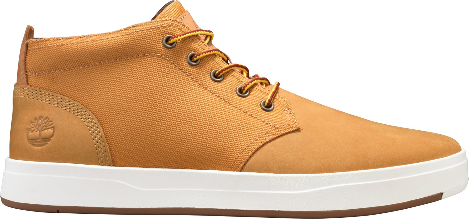 03ccc96a522 Timberland Men's Davis Square Fabric and Leather Chukka Boots