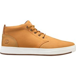 Men's Davis Square Fabric and Leather Chukka Boots