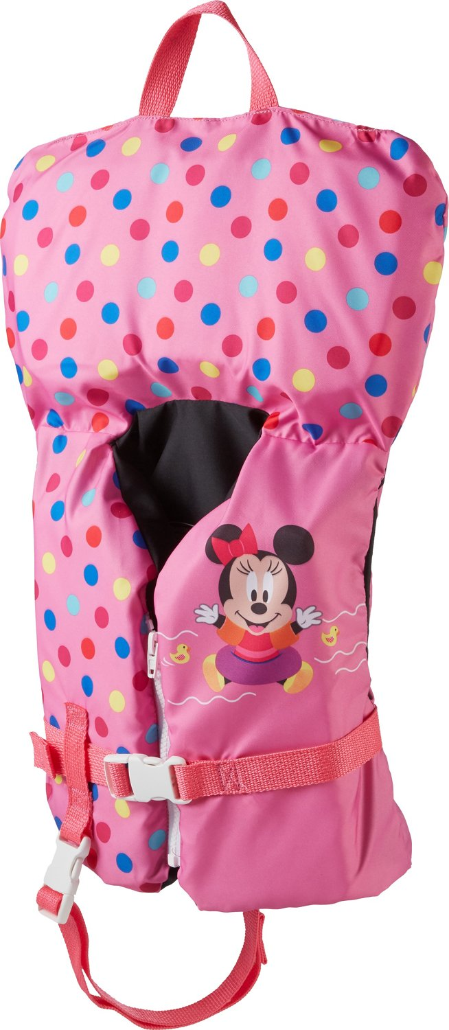 542d2b11bf63 SwimWays Infants  Sea Squirts Disney Baby Minnie Mouse Life Jacket ...