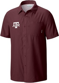 Men's Texas A&M University Slack Tide Camp Button Down Shirt