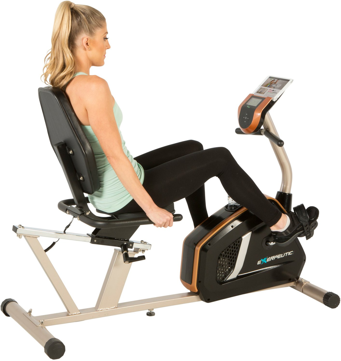 Exerpeutic 975XBT Bluetooth Smart Technology Recumbent Exercise Bike - view number 2
