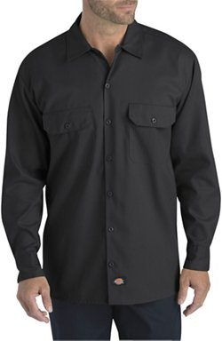 Dickies Men's FLEX Relaxed Fit Long Sleeve Twill Work Shirt
