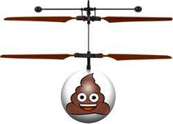 World Tech Toys Poop Emoji IR UFO Ball Helicopter