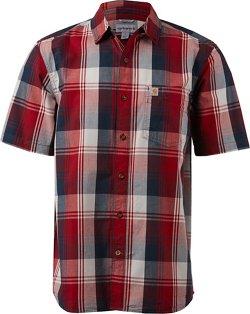 Carhartt Men's Essential Plaid Open-Collar Short Sleeve Button-Down Shirt