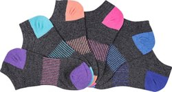 BCG Women's Color Accent Fashion Socks 6 Pack
