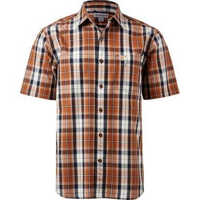 bcdb04b9b9b Carhartt Men s Essential Plaid Open-Collar Short Sleeve Button-Down Shirt