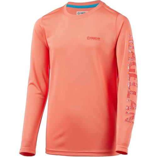 Magellan Outdoors Boys' Fish Gear Crewman Logo Long Sleeve T-shirt