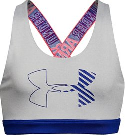 Under Armour Girls' HeatGear Graphic Medium-Support Sports Bra