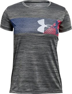 Under Armour Girls Hybrid Big Logo T-shirt