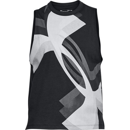 Under Armour Women's Overlay Logo Muscle Tank Top