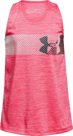 Under Armour Girls' Hybrid Big Logo Tank Top