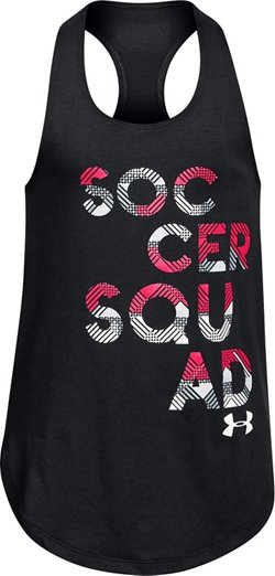 Under Armour Girls' Soccer Squad Tank Top