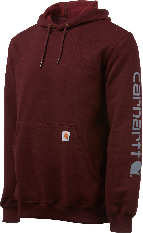 bb43eb1cb Carhartt Men's Midweight Signature Sleeve Logo Hooded Sweatshirt | Academy