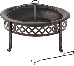 Mosaic 30 in Steel Lola Lattice Fire Pit