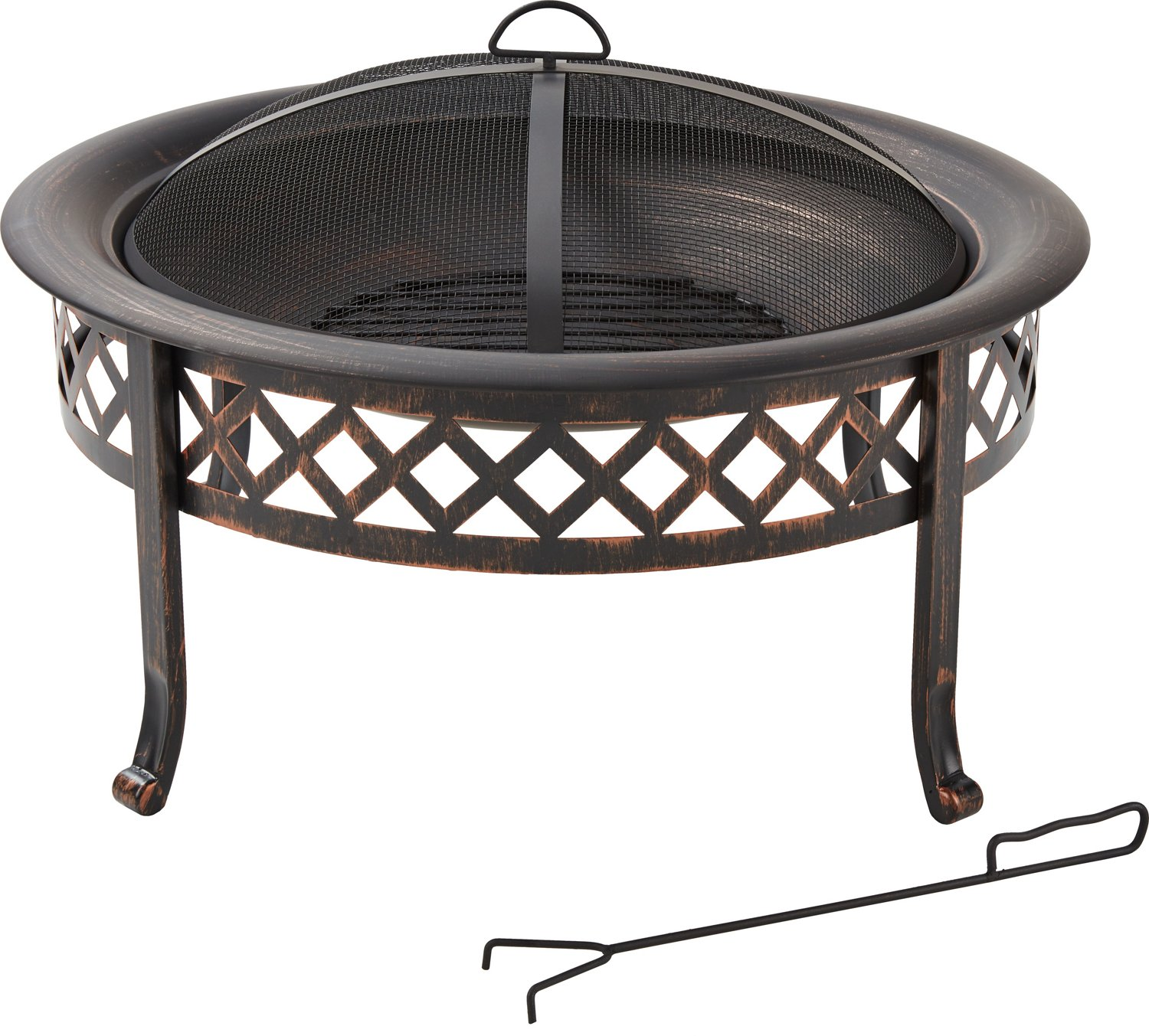 30 In Steel Lola Lattice Fire Pit